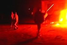 सरपंच चुनाव में हार के बाद उदयपुर में पोलिंग बस, पुलिस जीप को लगाई आग, पथराव