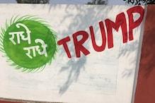Trump का आगरा दौरा: स्वागत में राधे-राधे, जय श्रीकृष्ण ट्रंप बोल रहीं दीवारें