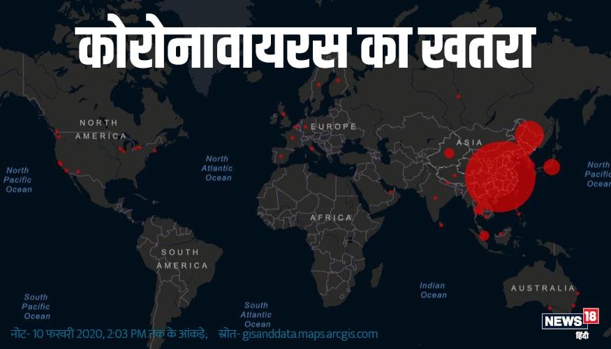 चीन सहित बड़ी संख्या में दूसरे देशों में भी कोरोनावायरस से संक्रमित मरीज हैं. इन देशों में सिंगापुर, हांगकांग, थाईलैंड, दक्षिण कोरिया, जापान, मलेशिया, ताइवान, ऑस्ट्रेलिया, जर्मनी, वियतनाम, अमेरिका, फ्रांस, मकाऊ, कनाडा, यूएई, इटली, फिलिपींस, भारत, यूके, रूस, स्पेन, नेपाल, कंबोडिया, बेल्जियम, फिनलैंड स्वीडन और श्रीलंका शामिल है.