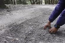 बनते ही उधड़ गई नैनीताल की यह सड़क, DM के आदेश दबा दिए मिट्टी के पैचों के नीचे