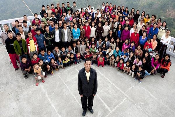 मिजोरम में दुनिया का सबसे बड़ा परिवार, 39 बीवियां,94 बच्चे-क्या हाल कोरोना में
