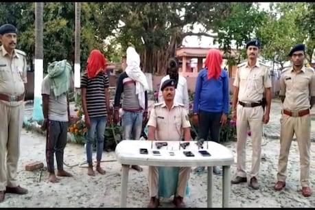 लूटपाट के बाद दूसरे जिलों में भाग जाते थे अपराधी, कुख्यात मल्लू गिरोह के पांच गिरफ्तार