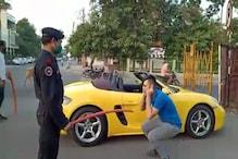 Lockdown: इंदौर में महंगी पड़ी Porsche की सवारी, युवक से लगवाई उठक बैठक
