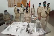 मुजफ्फरपुर में कार्रबाइन और हथियारों के जखीरे के साथ पकड़े गए छह अपराधी