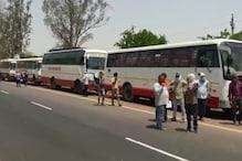 Lockdown: यूपी बॉर्डर पर खड़ी हैं राजस्थान की 100 बसें, नहीं मिल रही 'एंट्री'