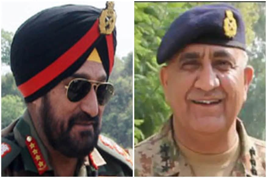 पाकिस्तान के पूर्व सेना प्रमुख कमर जावेद बाजवा (Qamar Javed Bajwa) और भारतीय सेना प्रमुख रहे जनरल बिक्रम सिंह (General Bikram Singh)