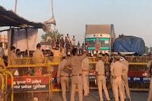 UP-MP बॉर्डर पर 20KM लंबा जाम, वाहनों को प्रवेश न देने पर श्रमिकों का हंगामा