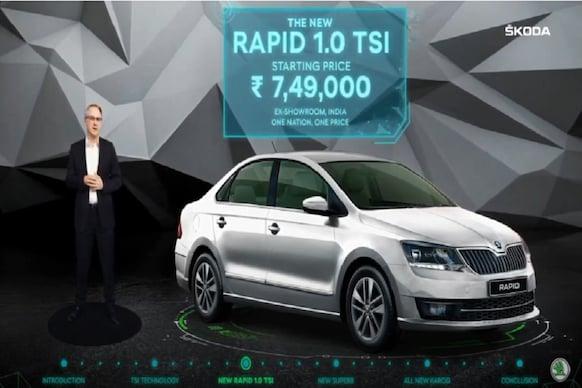 Skoda Rapid 1.0 TSI भारत में लॉन्च, कीमत 7.49 लाख रुपए से शुरू