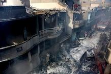 PICS: कराची विमान हादसे के बाद का खौफनाक मंजर, जो छोड़ गया तबाही के निशान