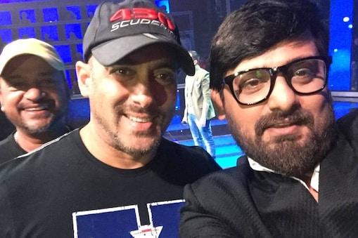म्यूजिक कंपोजर जोड़ी साजिद-वाजिद के साथ सलमान खान.