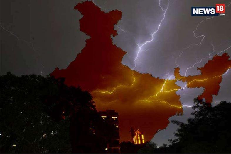 how lightning strike, lightning strike fatality, lightning science, lightning in bihar, lightning in uttar pradesh, बिजली कैसे गिरती है, बिजली गिरने से मौत, बिजली गिरने का विज्ञान, बिहार में बिजली गिरी, उत्तर प्रदेश में बिजली गिरी