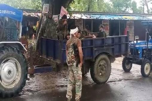बगहा के जंगलों में मुठभेड़ में मार गिराए गए चार नक्सली.