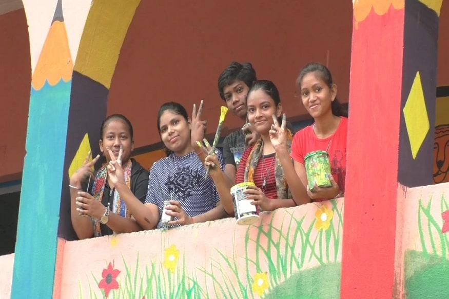 Bihar, Government School, School Children, Painting, Private school