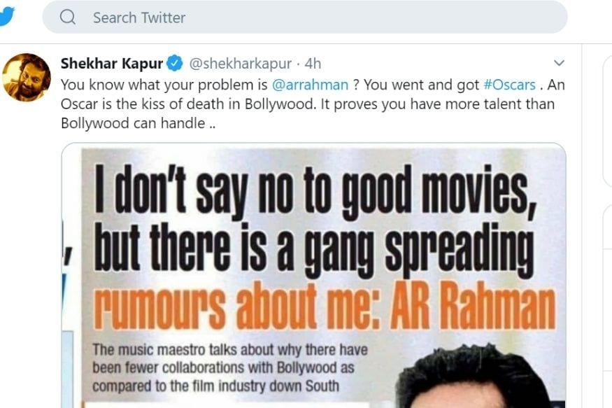 AR Rahman, AR Rahman on Groupism in Bollywood, Shekhar Kapur, Nepotism, Dil Bechara, Mukesh Chhabra, Sushant Singh Rajput, एआर रहमान, बॉलीवुड में एआर रहमान के खिलाफ ग्रुप, बॉलीवुड, नेपोटिज्म, Kangana Ranaut, Sonu Nigam, Sushant Singh Rajput, Dil Bechara, Dil Bechara Release, Anupam Kher emotional tweet Over Dil Bechara, Sanjana Sanghi, अनुपम खेर, सुशांत सिंह राजपूत, दिल बेचारा, संजना संघी, Disney Plus Hotstar, Hotstar, Mukesh Chhabra, Social Media, Disney+ Hotstar, Sushant's last film, बॉलीवुड, सुशांत सिंह राजपूत, दिल बेचारा, संजना संघी, मुकेश छाबड़ा, सोशल मीडिया, डिज्नी प्लस हॉटस्टार, सुशांत की आखिरी फिल्म, एआर रहमान का बॉलीवुड पर आरोप