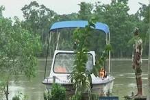 असम ब्रह्मपुत्र नदी की बाढ़ में बीएसएफ ऐसे कर रही सरहद की सुरक्षा
