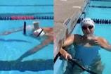 Video: सिर पर दूध का गिलास रखकर पूल में उतरी ओलिंपिक चैंपियन
