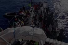 समंदर में डूब रही थी नाव, इटालियन कोस्टगार्ड ने 219 लीबियाई की जान बचाई