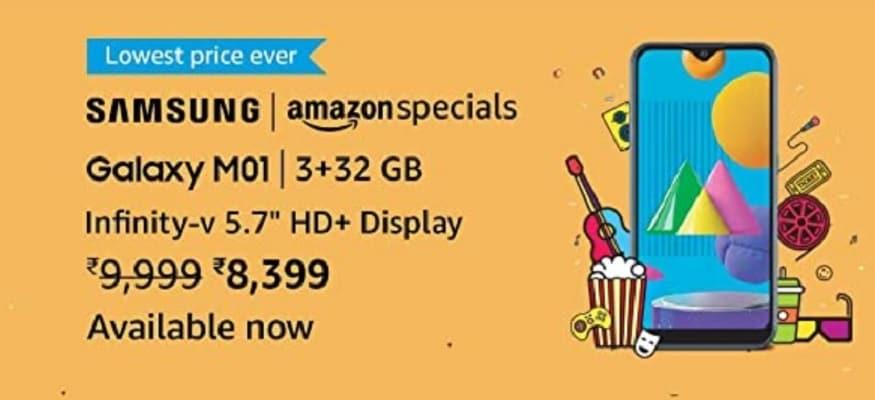 Samsung M01 Core के ऑफर की जानकारी Amazon से मिली है. (Photo: Amazon.in)