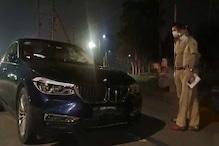PHOTOS: BMW कार सवार महिला ने सड़क पार कर रहे शख्स को मारी टक्कर, मौत