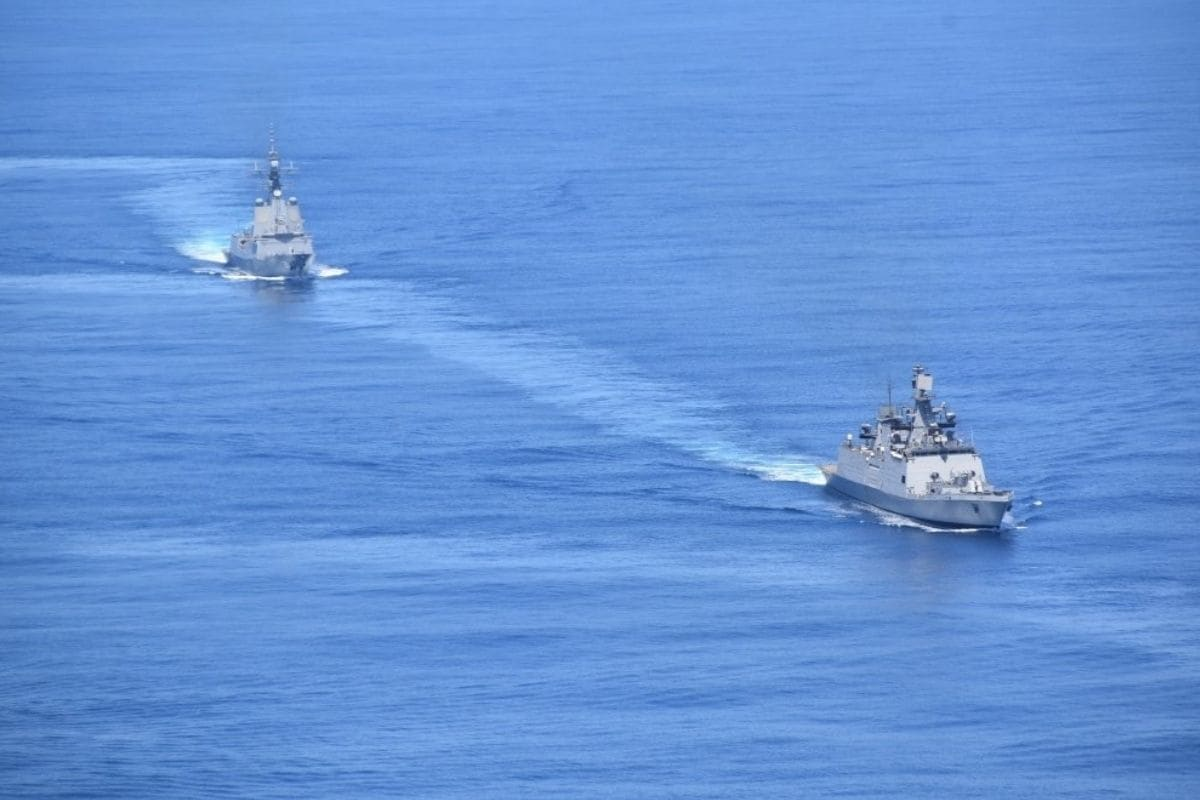 India, Japan, Australia, Indian Navy, Indian Ocean, Arabian Sea