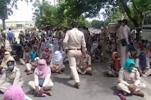 CM आवास घेरने निकले सहायक पुलिसकर्मियों को रोका, फिर हुआ ऐसा...