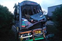 प्रतापगढ़: बिहार से मजदूरों को ले जा रही बस को ट्रक ने मारी टक्कर, दो की मौत