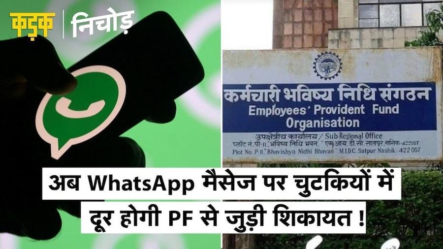 WhatsApp के एक मैसेज पर दूर होगी आपकी PF से जुड़ी शिकायत, जानिए कैसे? EPFO WhatsApp helpline