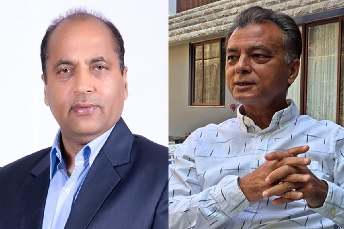 सीएम जयराम ठाकुर और अनिल शर्मा.
