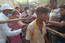 चुनावी सभा में CM नीतीश कुमार पर युवक ने फेंका पत्थर, सुरक्षाकर्मियों ने दबोचा