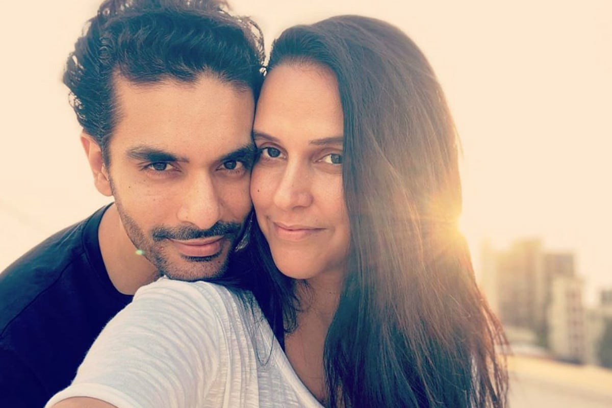 Neha Dhupia, Angad Bedi, Neha Dhupia Shared husband Angad Bedi, Neha Dhupia says Angad Bedi spotted in Maldives with Woman in Black Bikini, social media, viral photo, viral news, bollywood, news 18 hindi