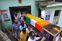 हिमाचल: बेटे के शव से लिपटकर मां ने दी अंतिम विदाई, जवान सुरेश ठाकुर पंचतत्व में विलीन