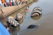 देवरिया: अनियंत्रित ट्रैक्टर ट्राली नहर में पलटी, दो मजदूरों की मौत