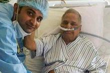 UP: सपा संरक्षक मुलायम सिंह यादव की हालत में सुधार, वायरल हुई तस्वीर