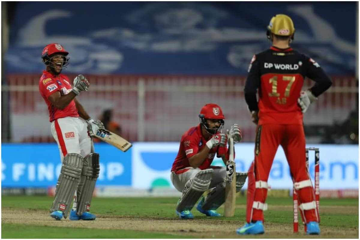 KXIP team stuck in a run of just 2 runs in the 20th over