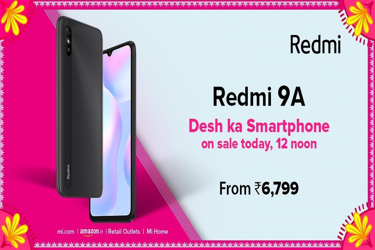 7000 रु से कम कीमत वाले Redmi 9A की सेल शुरू, 5000mAh बैटरी के साथ मिलेंगे कई फीचर्स