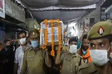 श्रीनगर आतंकी हमले में शहीद शैलेन्द्र सिंह का पार्थिव शरीर पहुंचा रायबरेली