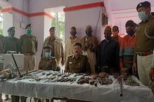 कैमूर में मिनी गन फैक्ट्री का भंडाफोड़, अवैध हथियार और उपकरण सहित 4 गिरफ्तार