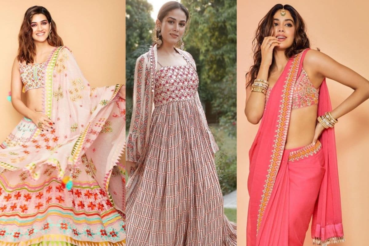 diwali 2020, Diwali looks, diwali celebrity Look, celebrity inspired looks, Janhvi Kapoor, Katrina Kaif, दिवाली 2020, जान्हवी कपूर, Bollywood News in Hindi, Entertainment News in Hindi, news18 hindi