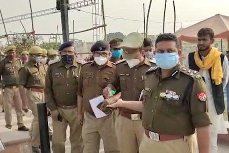 अयोध्या एसएसपी दीपक कुमार ने सुरक्षा व्यवस्था का जायजा लिया