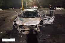 PHOTOS: चंडीगढ़ में दो कारों की भीषण टक्कर के बाद लगी आग, एक जिंदा जला, 2 झुलसे