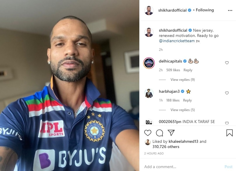 This retro jersey of Team India is similar to the 80s jersey.  Dhawan shared a picture saying that New Jersey, new enthusiasm, we are ready