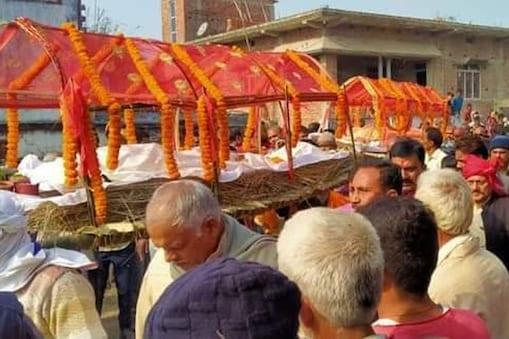 बगहा में पति की मौत के कुछ देर बाद पत्नी की भी मौत हो गई