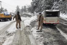 हिमाचल में मौसम: शिमला में सीजन की पहली बर्फबारी, 4 जिलों में येलो अलर्ट