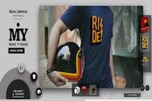 रॉयल एनफील्ड की वेबसाइट पर जाकर खुद डिजाइन करें अपने लिए हेलमेट और टी-शर्ट