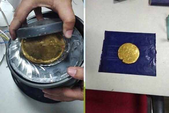 ग्राइंडर मशीन में छिपा कर विदेश से ला रहे थे सोना