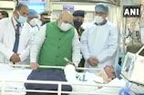 गृह मंत्री अमित शाह ने अस्पताल जाकर जाना हिंसा में घायल पुलिसकर्मियों का हाल