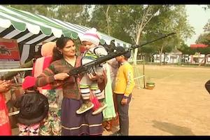 मेरठ में KNOW YOUR ARMY प्रोग्राम में बच्चों ने सेना के हथियार देखे, आर्मी बैंड की धुन से गूंजा सेंटर