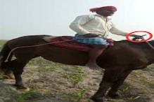 घुड़सवार ने खुलेआम किसान को दी गोली से उड़ाने की धमकी, Video हुआ वायरल