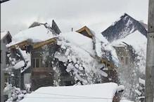 Srinagar | भारी बर्फबारी के बीच भरभराकर गिरा मकान, देखिए वीडियो