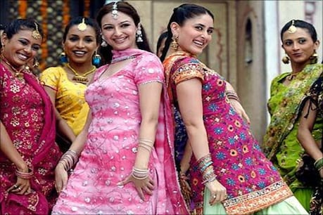 You can also try this beautiful Lohri from Phulkari Suits to Tilli Kaadhai to the beautiful Salwar Suits that Kareena wore in the film.